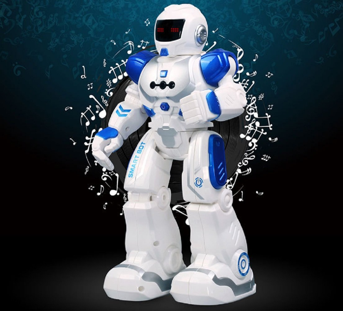 Hi-Tech Wireless Remote Control Robot Kids RC Robot Toy Senses Gesture, Sings, Dances, Talks, and Teaches Science