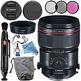 Canon TS-E 90mm f/2.8L Macro Tilt-Shift Lens 2274C002 + 77mm 3 Piece Filter Kit + Lens Cap Keeper + Lens Pen Cleaner + Deluxe Starter Kit + MicroFiber Cloth Bundle