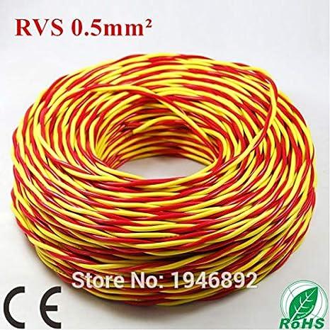 Isali - Juego de 2 Cables de Cobre Trenzados para lámpara (100 m, ZR