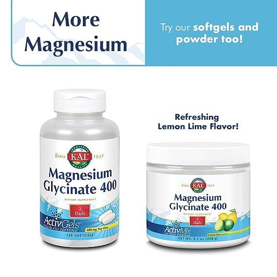 Kal - Glicinato de magnesio400-180 tabletas: Amazon.es: Salud y cuidado personal