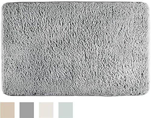 "InterDesign Sherpa Microfiber Bathroom Accent Rug - 34"" X 21"" -  - bathroom-linens, bathroom, bath-mats - 61CM7ZclW L -"