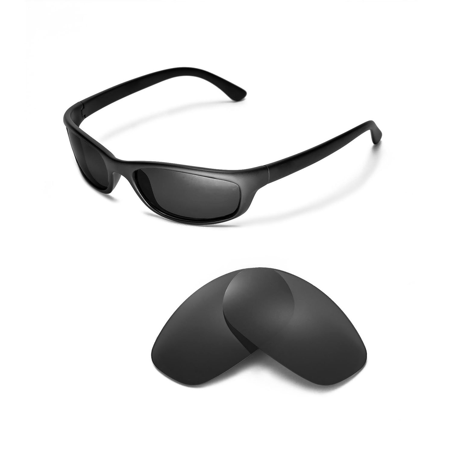 cf4446ec38 Amazon.com   Walleva Replacement Lenses for Ray-Ban RB4115 Sunglasses -  Multiple Options Available (Black - Polarized)   Sports   Outdoors