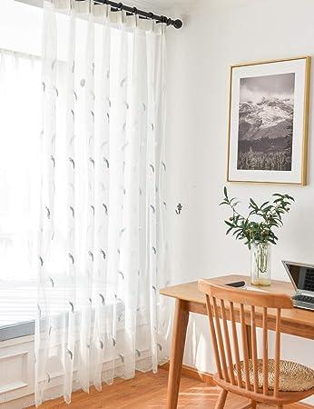 Lactraum Gardinen Schlafzimmer lang mit Ösen transparent ...