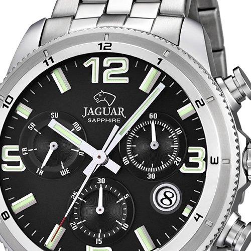 Reloj Jaguar hombre J687/3 cronógrafo negro acero inoxidable 44 mm: Jaguar: Amazon.es: Relojes