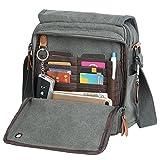 Canvas Messenger Bag Small Travel School Crossbody
