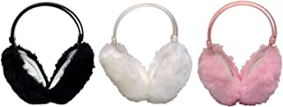 Thinsulate - 3 Pack Kids Girls Cute Fluffy Adjustable Foldable Winter Ear Muffs