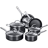 Nonstick Pots and Pans Set, Cookware Sets 10 pieces, Chemical-Free Kitchen Cooking Set, Saucepan, Frying Pan, Skillet…