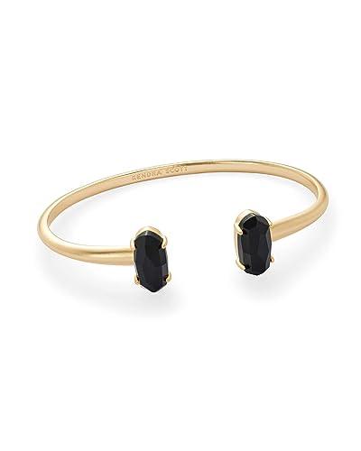 10860aa4e Amazon.com: Kendra Scott Edie Cuff Bracelet (Gold and Black): Jewelry
