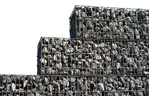 4 Stück Gabione 200x150x30 cm Steinkorb Mauer Sichtschutz Gabion