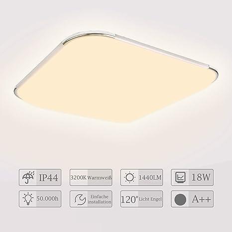 LED Deckenleuchte Deckenlampe Deckenlampen warmweiß kaltweiß Bad Schlafzimmer