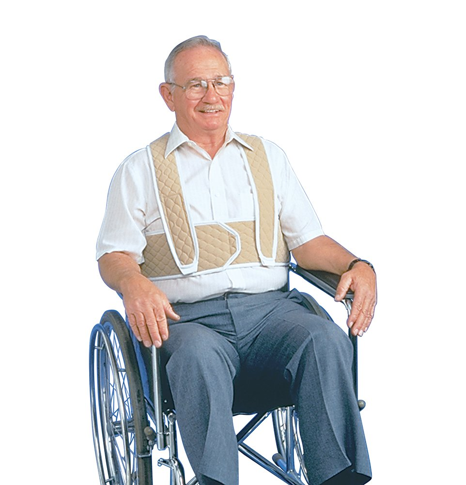 Posey 3656L Torso Support For Wheelchair, Large