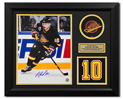 0e6241453 Pavel Bure Vancouver Canucks Autographed Autograph Retired Jersey Number  23x19 Frame - Certificate of Authenticity Included