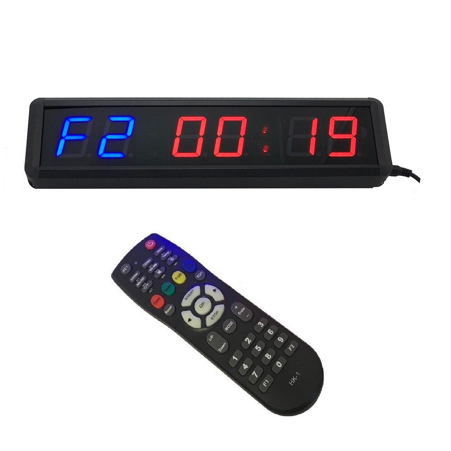 1.8'' LED Interval Workout Timer Countdown Stopwatch For Garage CrossFit Training BTB SIGN CFT006