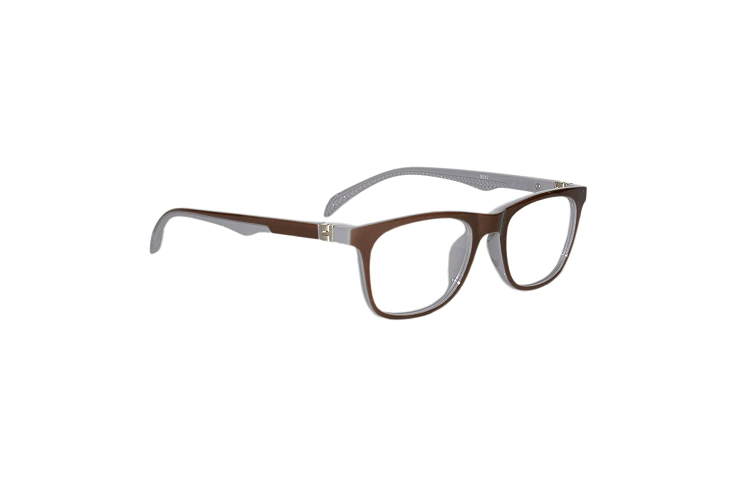 1ac00a97d5 Peter Jones Brown and Grey Unisex Square Optical Frame with Flexible  Temples (5912IGR)  Amazon.in  Clothing   Accessories