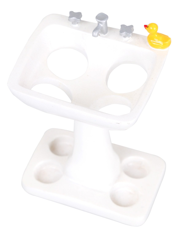 TETIBA Adorable Cute Duck toothbrush Holder Stand for Bathroom Vanity Countertops