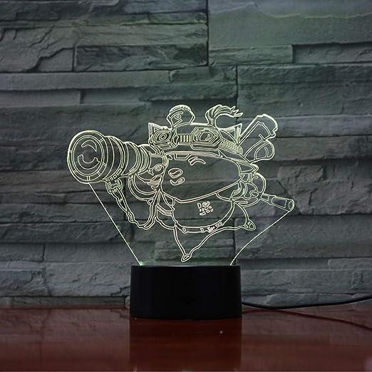League of Legends LoL LED de luz nocturna Sensor táctil 7 colores ...