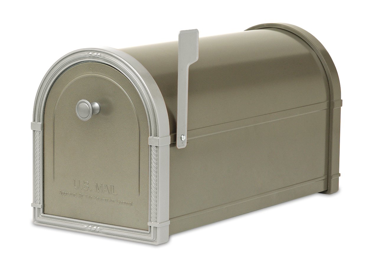 Architectural Mailboxes Bellevue Mailbox, Graphite Bronze with Platinum by ARCHITECTURAL MAILBOXES