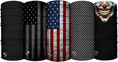 UV Face Shield S A 1 Face Shield Tactical Black Skull Face Shield for Men and Face Shields for Women