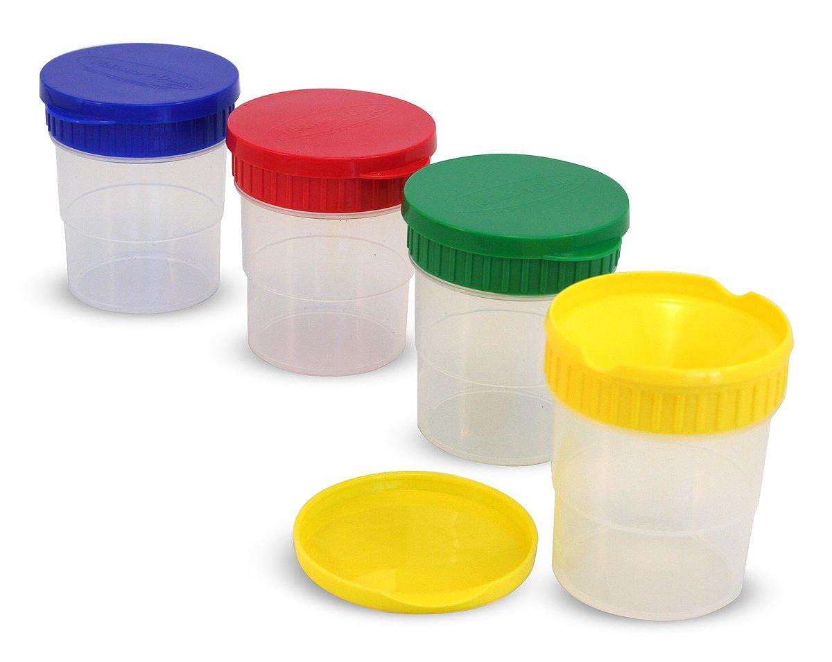 Amazon.com: Melissa & Doug Spill Proof Paint Cups, Set of 4: Melissa ...