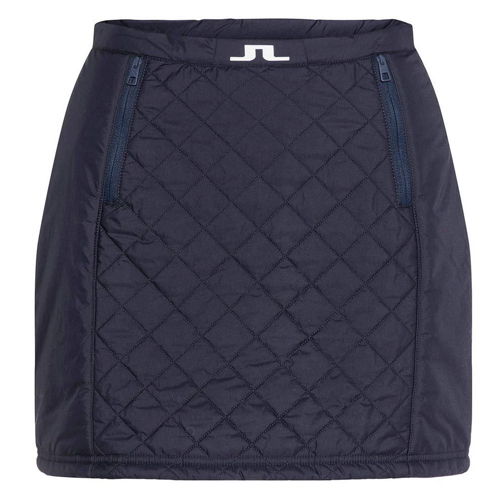 J.Lindeberg レディース ジェイド キルト ナイロン ゴルフスカート JL ネイビー XL   B07JNFSRQR