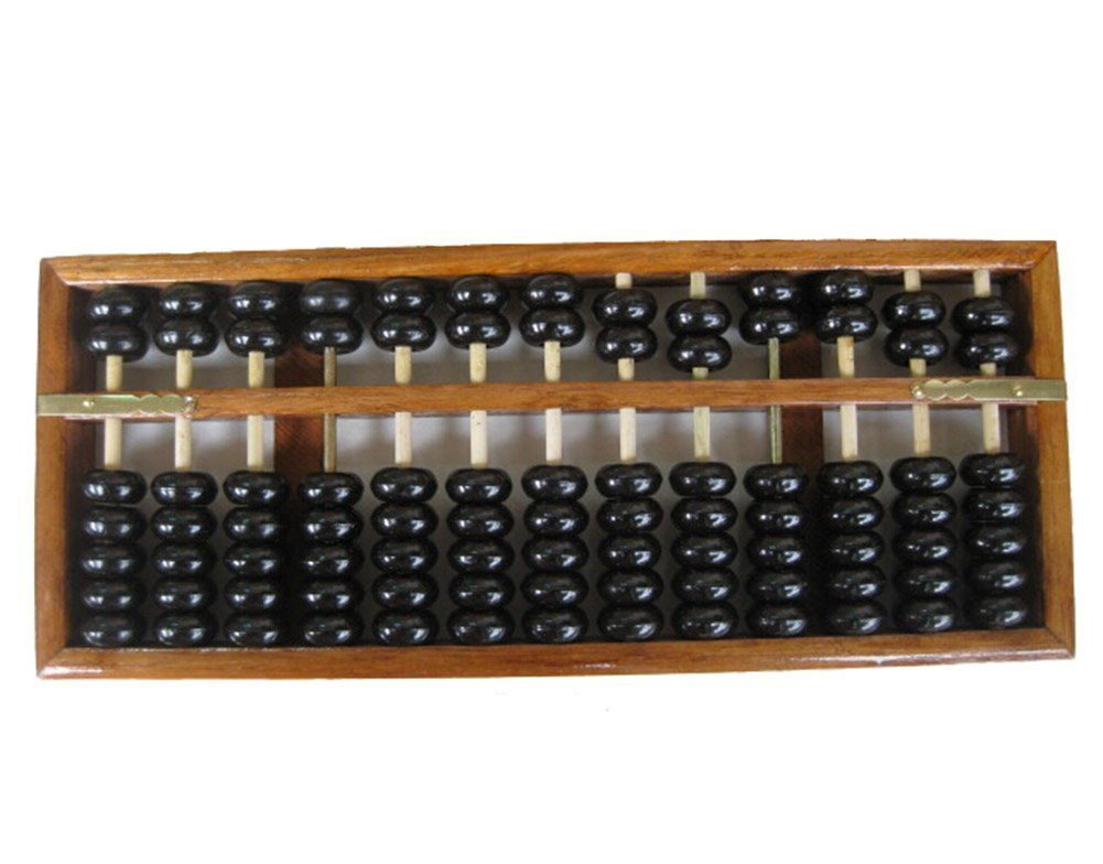 MAGIKON Vintage Style Chinese Wooden Abacus Chinese Lucky Calculator