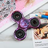 NOING Tri Fidget Hand Spinner Camouflage Multi-Color Double Side Printed, EDC Focus Toy For Kids & Adults (Night Stars)