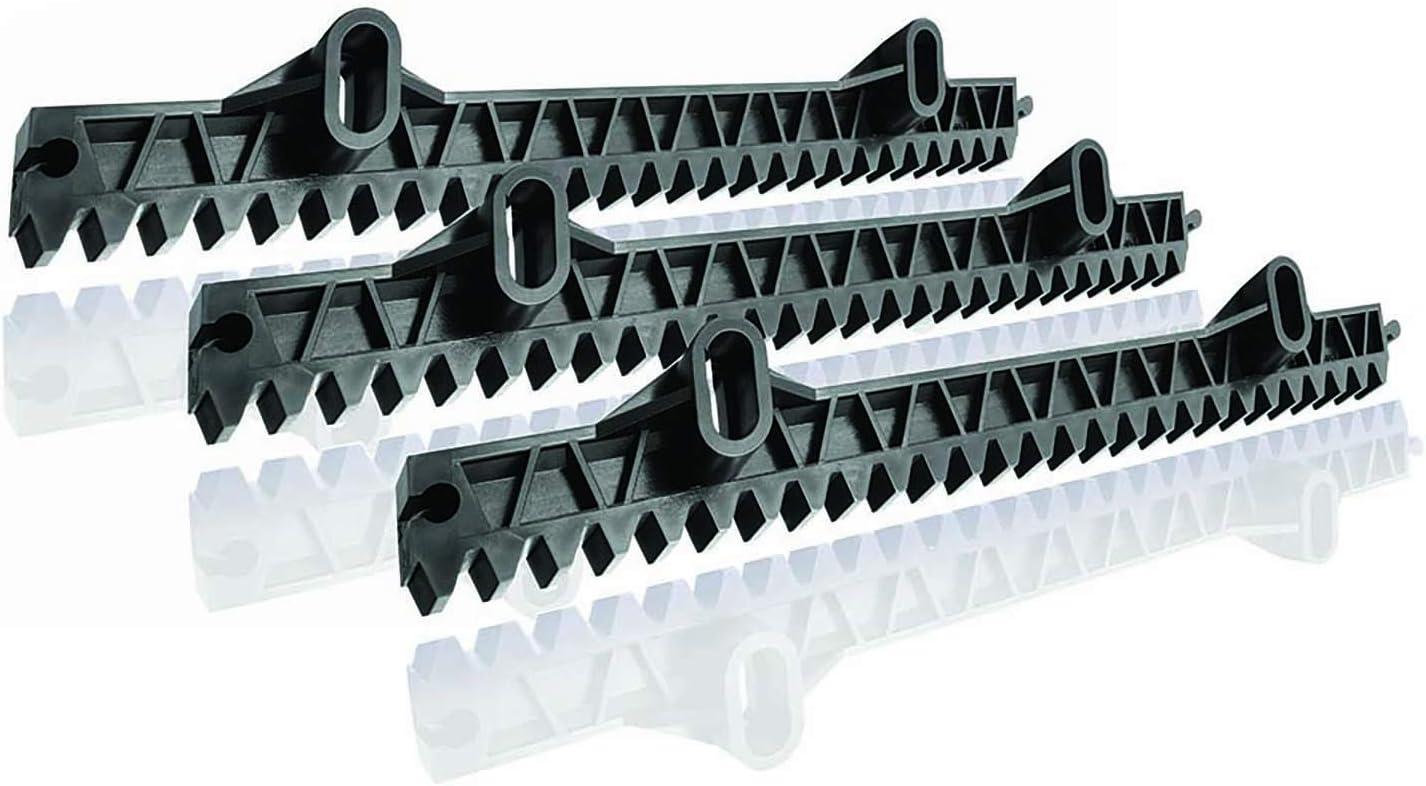 Somfy, Cremallera para cancelas, gris. 33 cm, Set de 3 piezas