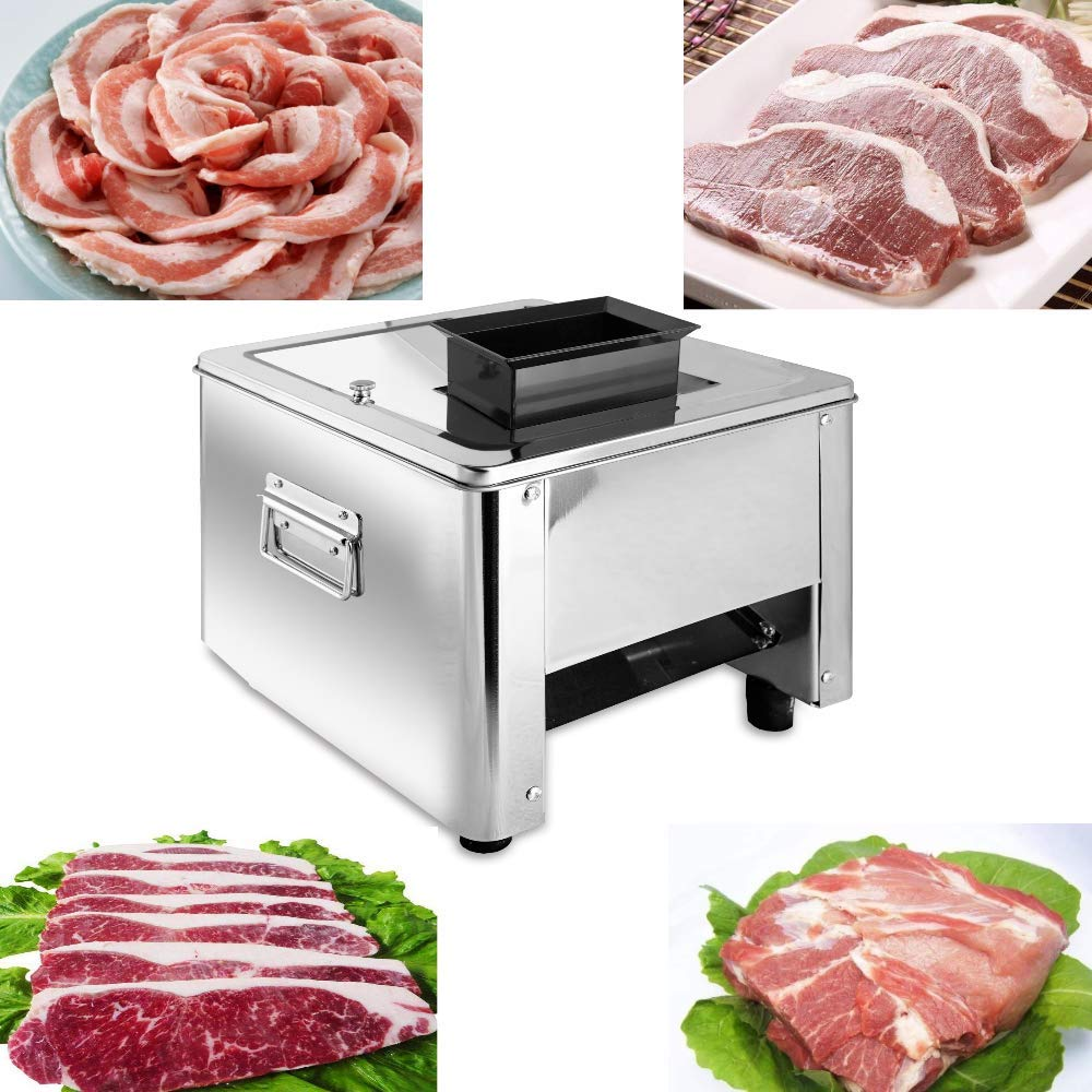 Marada Meat Slicer 15MM 110V Stainless Steel Electric Meat Slicer Machine  Auto Meat Cuber for Fast and Efficient Slicing  by Marada
