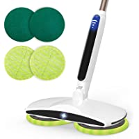 GOBOT Cordless Electric Mop Floor Scrubber for Home Kitchen Hardwood Floor Cleaner,2 Replacement Microfiber Pads and…
