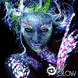 UV Glow Blacklight Face and Body Paint 0.34oz – Set of 6 Tubes – Neon Fluorescent