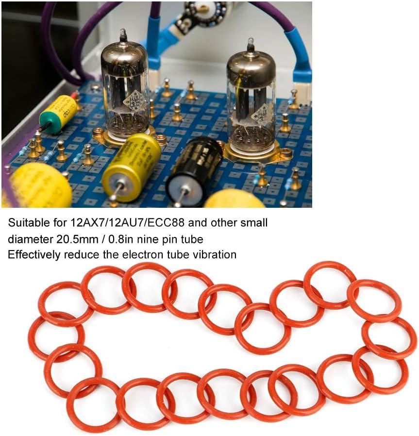 20pcs Tube Damper Silicone Rings Fit for 12AX7 12AU7 12AT7 12BH7 EL84 KIMISS Tube Damper