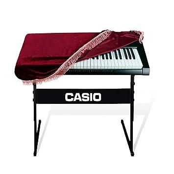 muxico 1 pieza 61-Key Full de teclado de piano cubierta, Velcro de Pleuche Decorado con Flecos Beautifu, rojo: Amazon.es: Instrumentos musicales