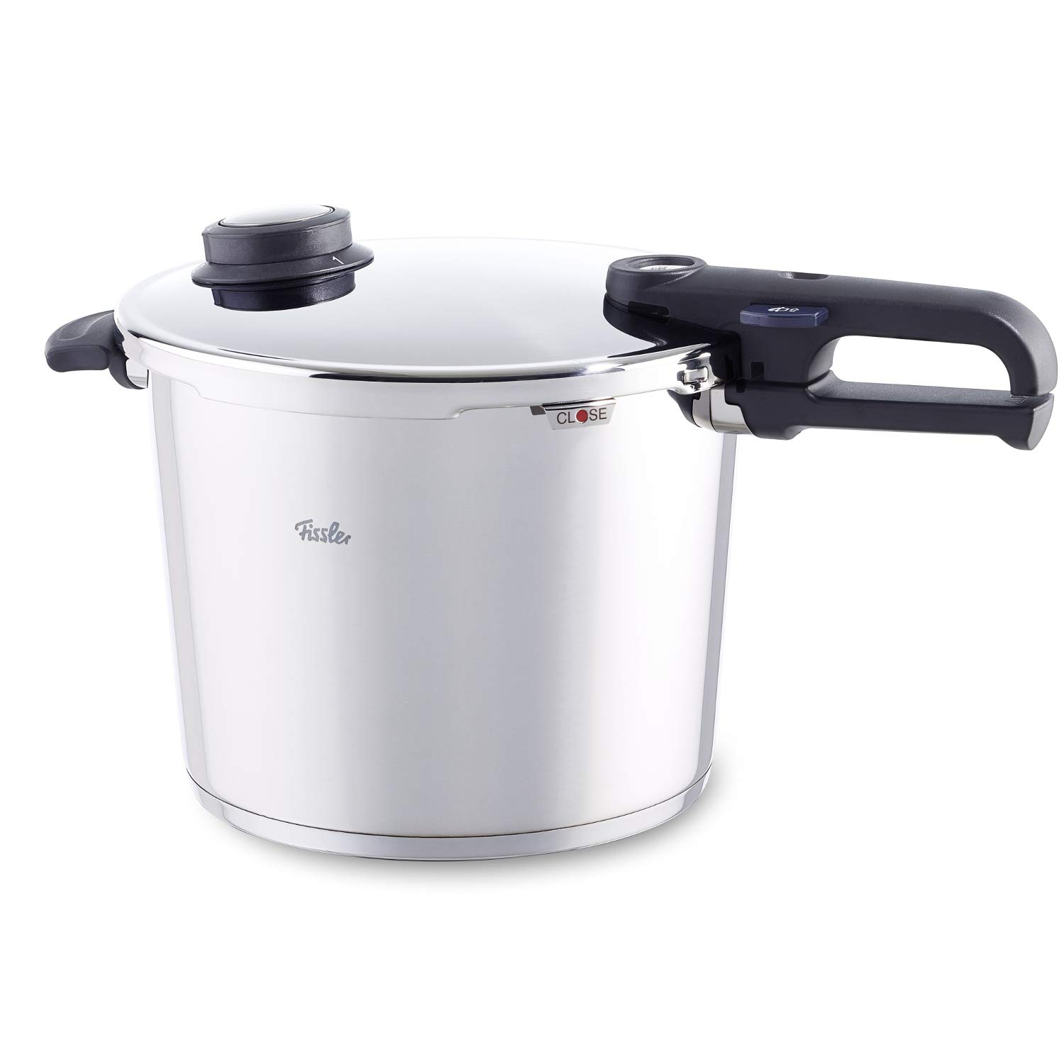 Fissler Vitavit Stainless Steel 10.6 Quart Premium Pressure Cooker with Steamer Insert