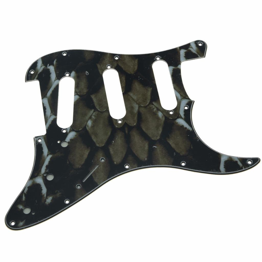 Kaish 11/hole ST Strat Sss chitarra Pickguard Scrach piastra per USA//messicano Fender Stratocaster Snake Stripe