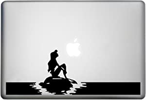 Little Mermaid Decor Sticker MacBook Pro Decal is a Mermaid Silhouette Decal. Laptop Sizes 11, 12, 13 and 15 inch. Looks Great with Your Mermaid Tail Decals Theme. Many Colors-Black