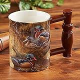 Wood Ducks Sculpted Mug by Rosemary Millette