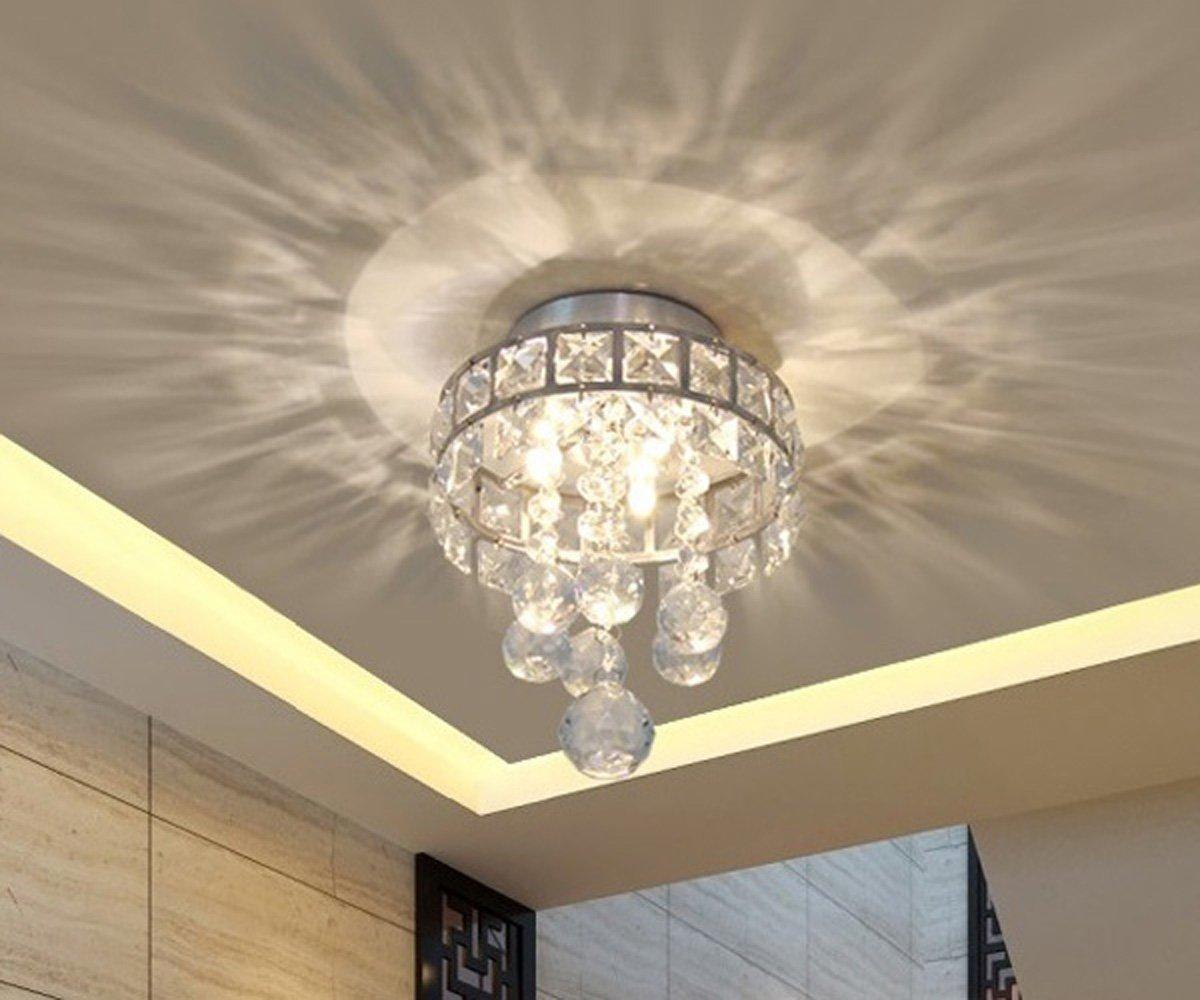Lampadari E Plafoniere Abbinate : Dellemade mini lampadario di cristallo plafoniera moderna per