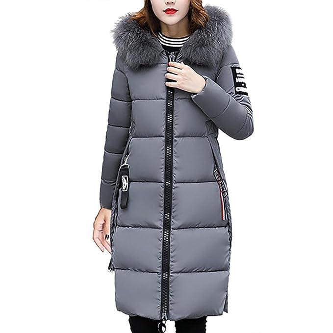 2f87640a87b322 OverDose Donna Invernale Piumino Lungo Giacca Trapuntata Giubbino Cappotti  Giacche Felpe Pesante con Cappuccio: Amazon.it: Abbigliamento