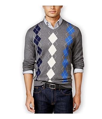 e00b522bfa9f Club Room Mens Argyle Pullover Sweater Grey Big 2X - Big & Tall at ...