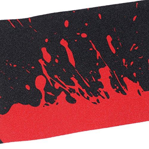 Perfk 防水 PVC製 スケートボード デッキサンドペーパー グリップテープ シート 全4選択