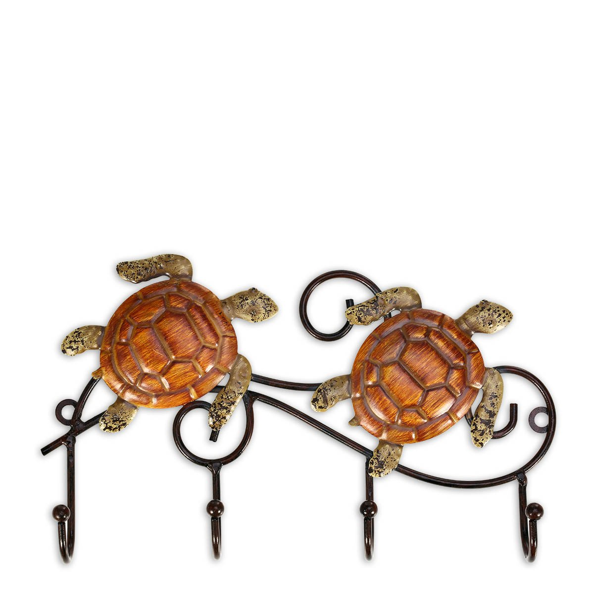 Tooarts Iron Wall Hanger Vintage Design with 4 Hooks Coats Keys Bags Hanger Wall Mounted Decorative Gift Idea