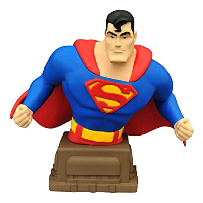 Diamond Select Toys Superman: The Animated Series: Superman Resin Bust: Toys & Games