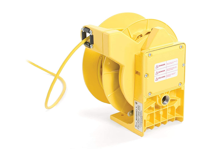 Cord NEMA 1 Simple Powered Reel with 14//3 SJTOW Woodhead 990-1610S Cord Reel with Light 30 W Spot Light 45 ft