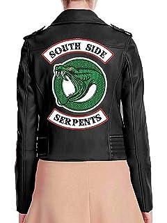 LeatherGrabs Southside Serpents Veste pour Femmes en Faux