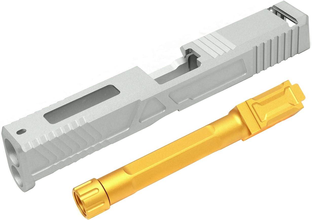 MITA(M.I.T AIRSOFT) アルミスライドCNC カスタムスライドキット for VFC GBB G17 マットシルバー