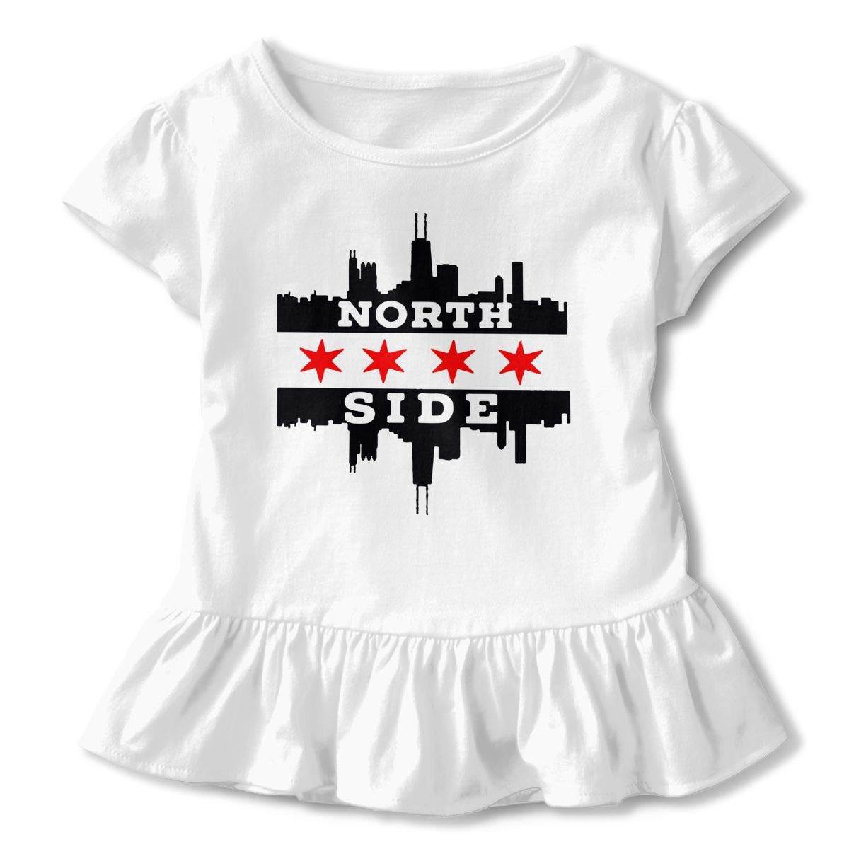 Northside Chicago Flag and Skyline Baby Girls Short-Sleeved Tee Dress