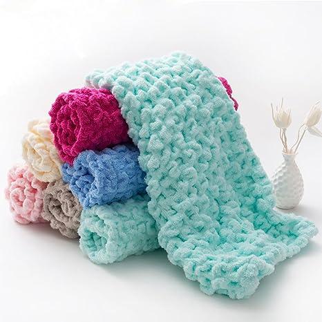 SUNVIM - Toalla de Almohada de algodón (una Toalla Utilizada para Cubrir una Almohada)
