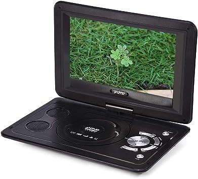 Vbestlife Reproductor de DVD Portátil con Pantalla HD, Función de TV, Juego y CD, Reproductor de DVD con 13.9 Pulgadas 800 * 480 Resolución 16: 9 Pantalla LCD.: Amazon.es: Electrónica