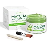 SHVYOG Green Tea Matcha Clay Face Mask, Skin Care Antioxidant Detox Face Mask with Volcanic Mud, Deep Cleansing…