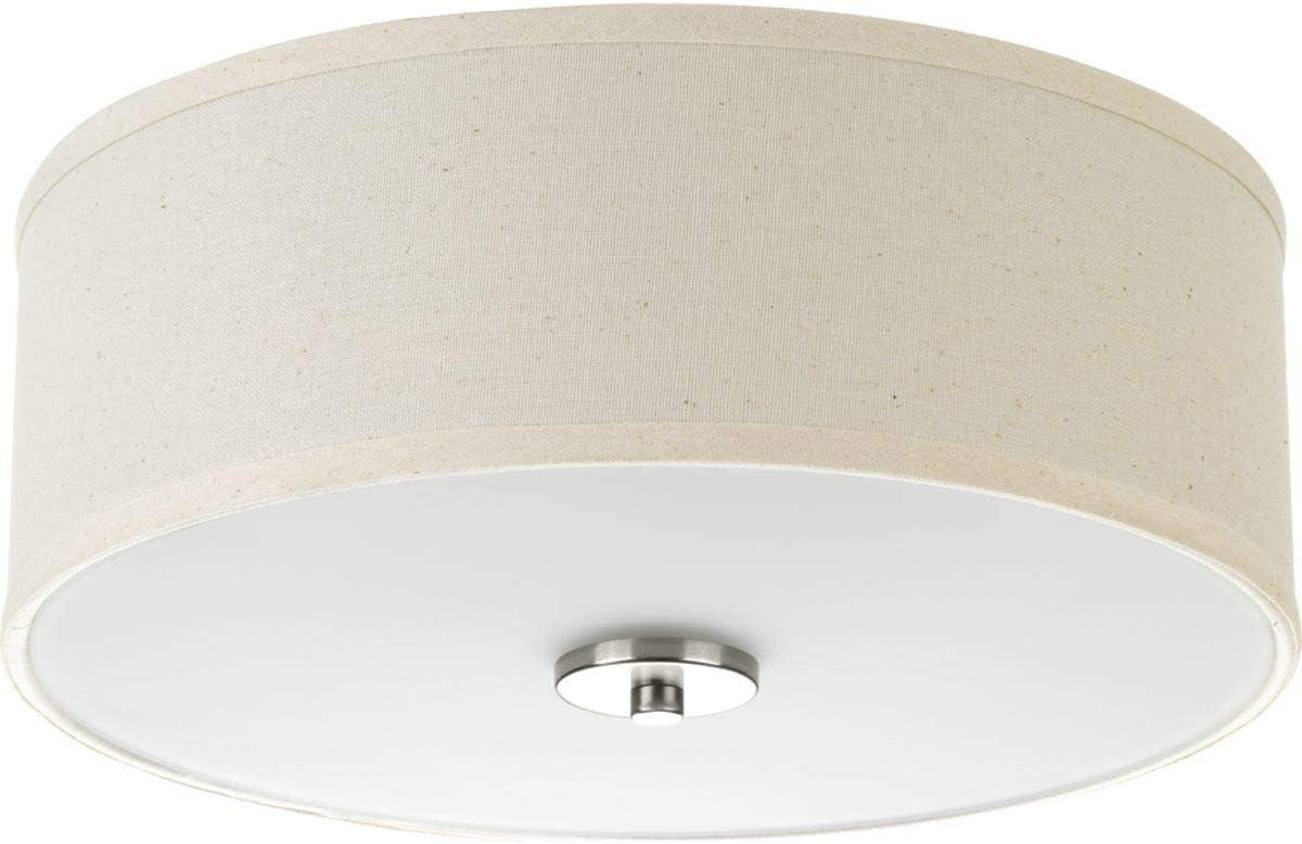 Amazon Com Progress Lighting P3713 09 Inspire Two Light Flush Mount Brushed Nickel Home Improvement